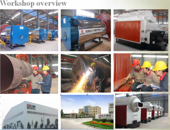 Horizontal Fire Tube Boiler 6 Ton Water Fire 6000 kg Red Color TUV Certification