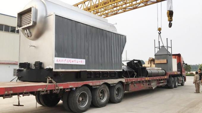 1-20 Ton/H Charcoal Coal Fired Steam Boiler Running With Chain Grate