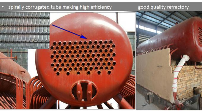 1T / Hour Wood Fired Steam Boiler Running For Dry Cleaning Machine