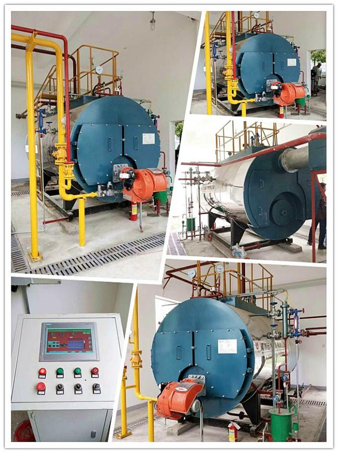3000kgh Cast Iron Gas Fired Steam Boiler 1.0 MPa Working Pressure For Paper Manufacturing