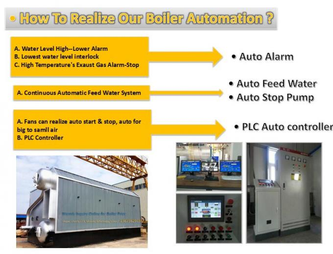 Rice Husk Fired Steam Boiler Solid Fuel Automatic Operating SGS Certification
