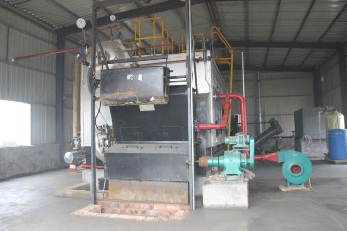 Industrial 4000kg/H Rice Husk Fired Steam Boiler Large Furnace Burning For Rice Mill