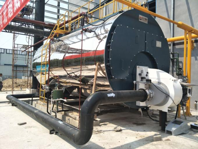 1500 Kg/H Generating Natural Gas Steam Boiler Horizontal For Paper Mills Industry