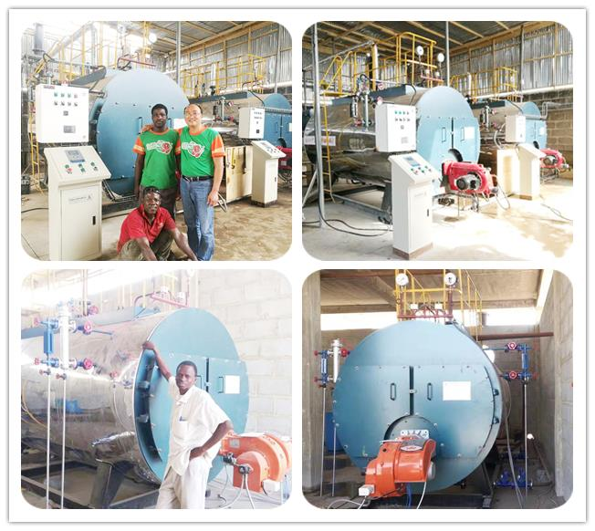 2Tph Diesel Oil Fire Tube Steam Boiler Low Pressure For Brewery Factory