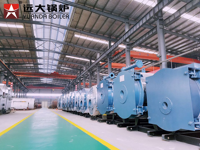 10 Ton Gas Fired Industrial Steam Boiler Wns Series For Beverage Factory
