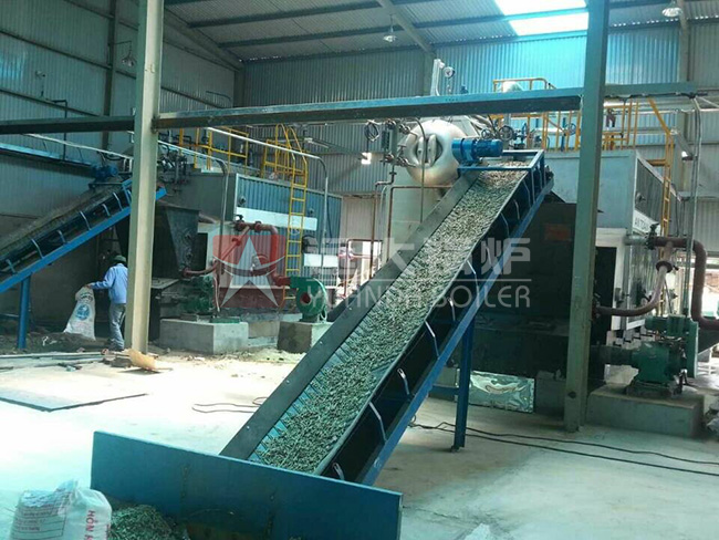 Industrial Water Tube 4 Ton Fuel Rice Husk Steam Boiler For Rice Mill