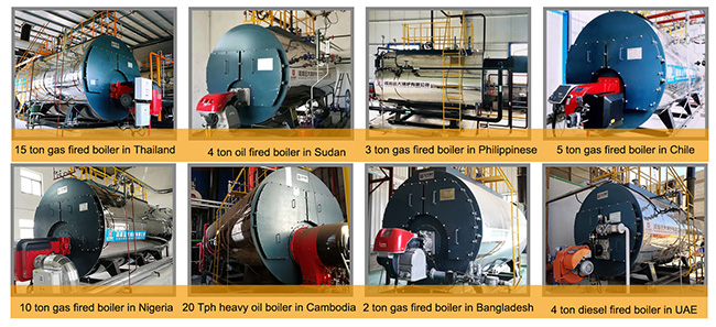 2 Ton Gas Steam Boiler High Efficiency For Carbonated