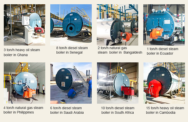 Package 10 Ton Gas Diesel Oil Fired Industrial Steam Boiler For Pharmaceutical