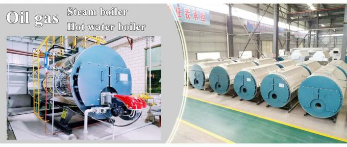 Professional Gas Fired Steam Boiler Horizontal Type Automatic PLC Control For Ironing