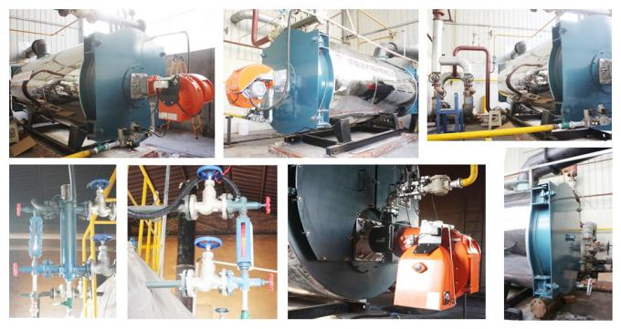 YYQW Series Oil Gas Fired Boilers 0.7MW - 1.4MW With Forced Circulation