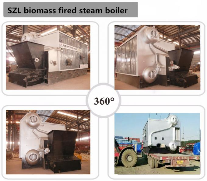 SZL Waste Sugarcane Bagasse Fired Boiler Steel Material Automatic Running