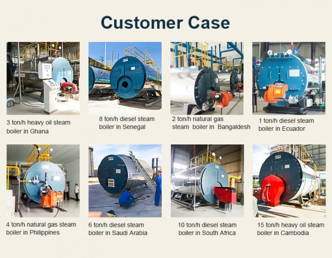 Diesel Gas Horizontal Fire Tube Boiler 6 Ton High Speed Corrosion Resistance For EPS