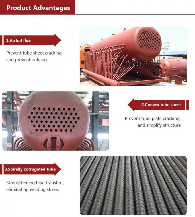 Horizontal Style Coal Fired Hot Water Boiler Chain Grate Stoker 3000kg Low Pressure