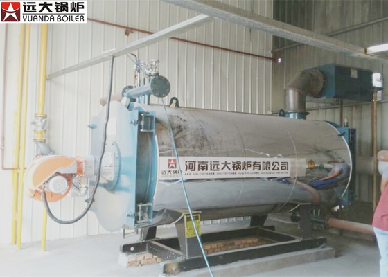China Diesel Oil Fired Boiler 100 / 0000 Kcal Boiler Heater 0.8 Mpa Rated Working Pressure supplier