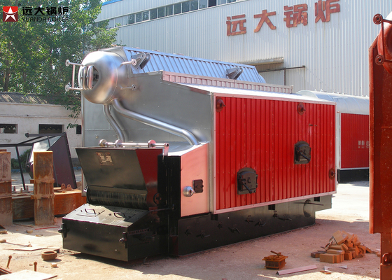 Packaged Bagasse Fired Chain Grate Boiler 5Ton / H for Food Factory
