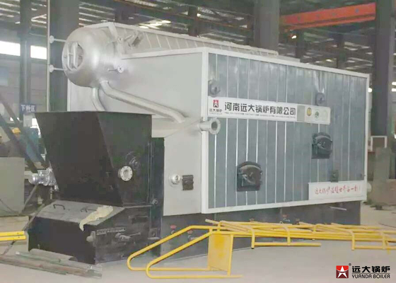 China 8 T/Hr Bagasse Fired Steam Boiler / Two Drums Heating Biomass Boiler supplier