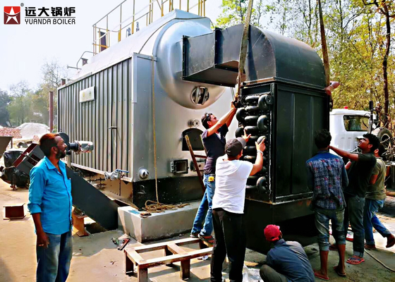 China 1T / Hour Wood Fired Steam Boiler Running For Dry Cleaning Machine supplier