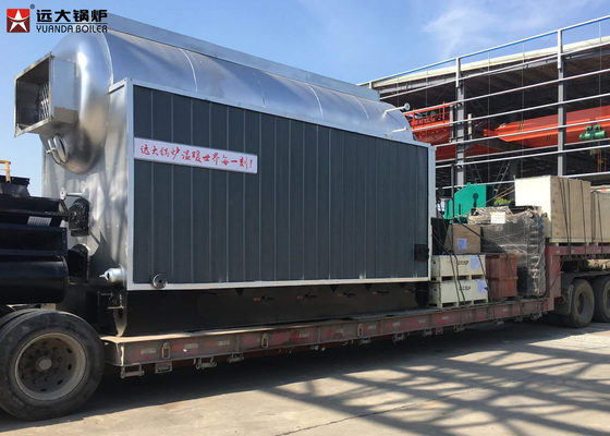 2000Kg DZH Coal Wood Steam Boiler With Moving Grate Working Safety