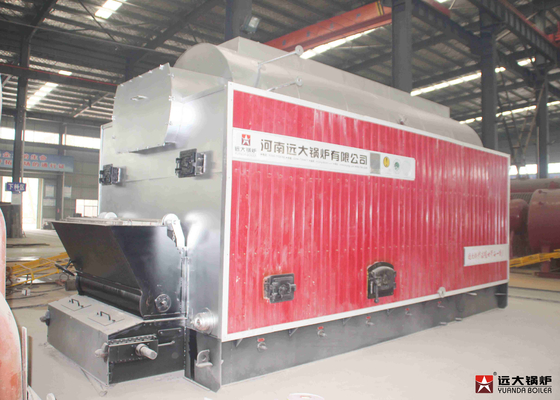 China Water Tube Rice Husk Steam Boiler , Automatic Sugarcane Chain Grate Boiler supplier