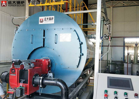 China Automatic Industrial Natural Gas Steam Boiler Three Pass Type Boiler 1 Ton supplier