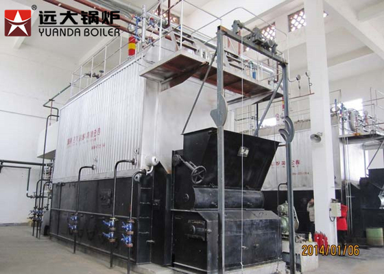 China 200Hp Coal Powered Boiler , 15 Bar Pressure Chain Grate Boiler 1 Ton - 30 Ton Capacity supplier