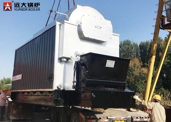 China 2 Ton Low Pressure Rice Husk Steam Boiler , Biomass Fuel Chain Grate Boiler supplier
