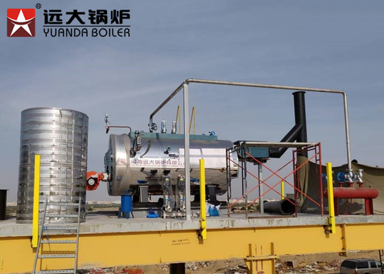 Diesel Oil Steam Boiler Capacity 500Kg For Plastic Industry , Automatic Operation