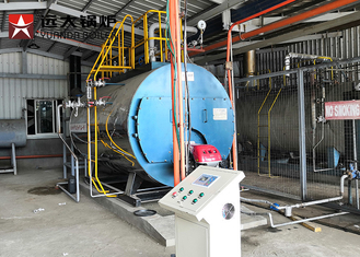 China 1000 Kgh Diesel Powered Industrial Steam Boiler For Food Processing Automatic PLC Control supplier