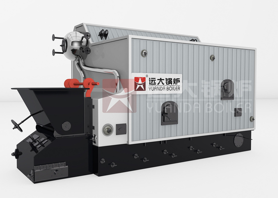China Central Heating Wood Fired Steam Boiler Double Drum Biomass Hot Water Boiler supplier