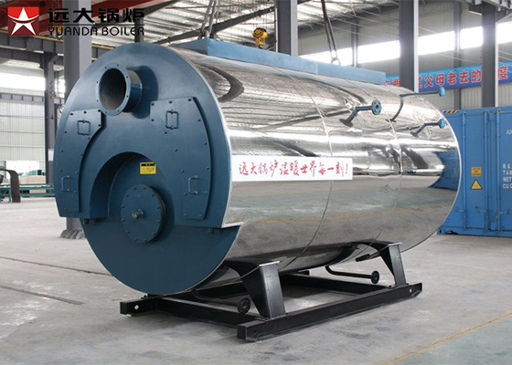 China 1 Ton Gas Steam Boiler 0.7MPa - 1.6MPa Rated Pressure Double Door Design supplier