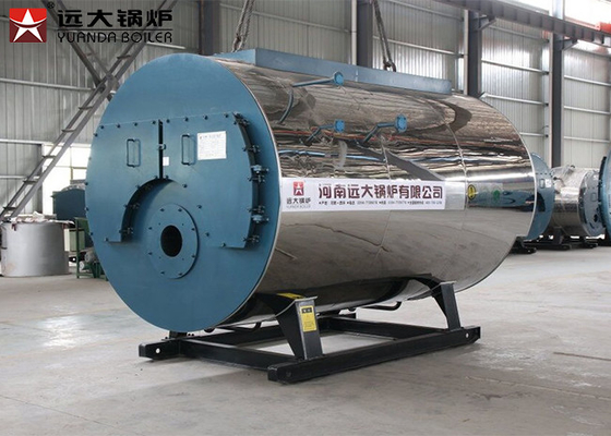 China 1500 Kg/H Generating Natural Gas Steam Boiler Horizontal For Paper Mills Industry supplier