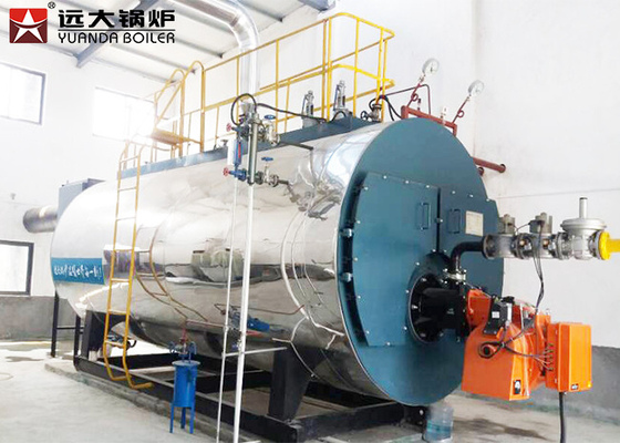 Automatic Control Three Pass Industrial Gas Steam Boiler 6000000 Btu