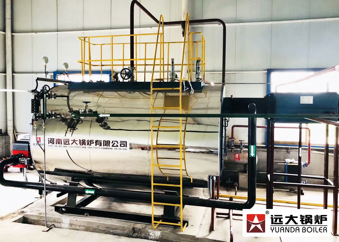 Horizontal 8t/h oil gas fired industrial steam boiler for