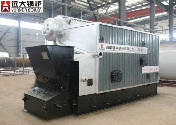 China 8 Ton Biomass Steam Boiler Bulk Fuel And Shaped , Fuel Fired Boiler factory