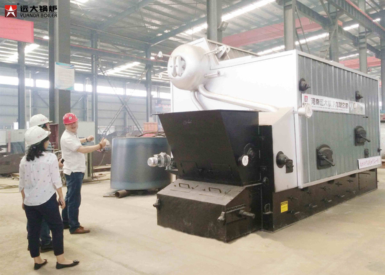 China Double Drums Biomass Steam Boiler Fuel Fired In Large Furnace Space factory