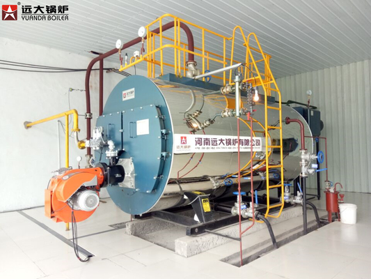 China Diesel Heavy Oil Fired Hot Water Boiler 700 Kw With 1.25 MPa Working Pressure distributor