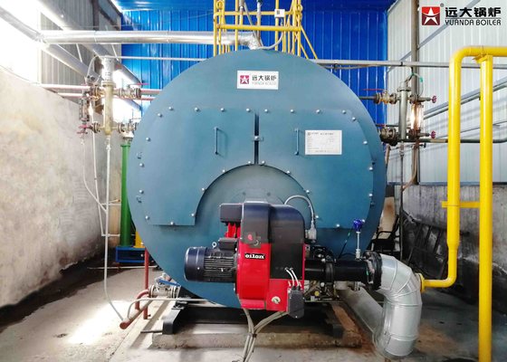 China 2 Ton / 4 Ton Oil Fired Hot Water Boiler , High Efficient Heat Transfer In Boiler  distributor