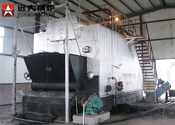 China Automatic 4000Kg Rice Husk Fired Steam Boiler , Solid Fuel Biomass Boiler distributor