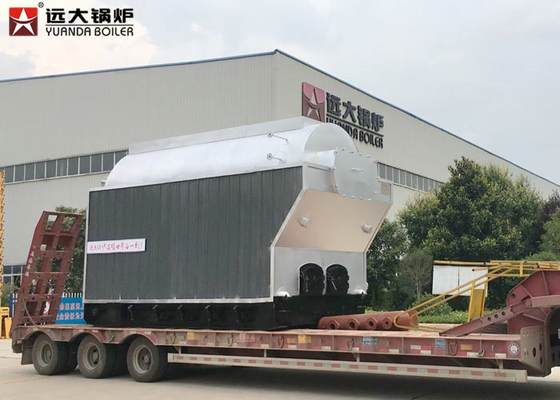China 6 Ton Wood Fired Steam Boiler , Large Stove Biomass Boiler For Rice Mills distributor