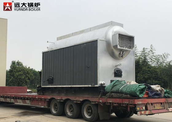 China Horizontal 4 Tph Large Biomass Fired Boiler Furnace With Travelling Chain Grate factory