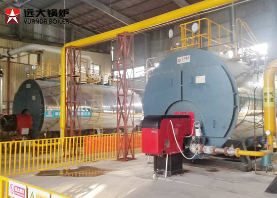 China 1 Ton Per Hour Gas Steam Boiler Low Pressure Boiler 5 Bar Working Pressure distributor