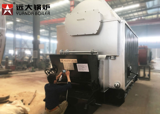 China 8 Ton Fuel Feeding Coal Fired Steam Boiler , Coal Burning Boiler 2 Years Warranty distributor