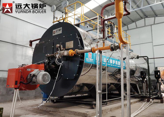 China 4 Ton Light Oil Fired High Efficiency Steam Heaters Industrial For Food Processing distributor