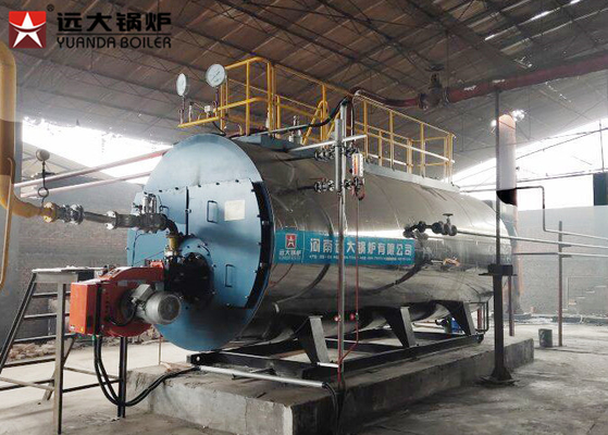China 1 Ton Gas Oil Heating Steam Boiler Equipment Full Automatic Horizontal For Hotel factory