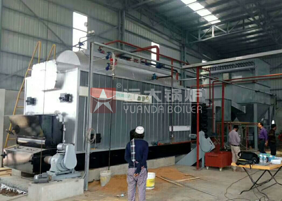China Chain Grate 4 Ton Coal Powered Boiler Fire Tube Package Hand Feeding Coal Boiler factory