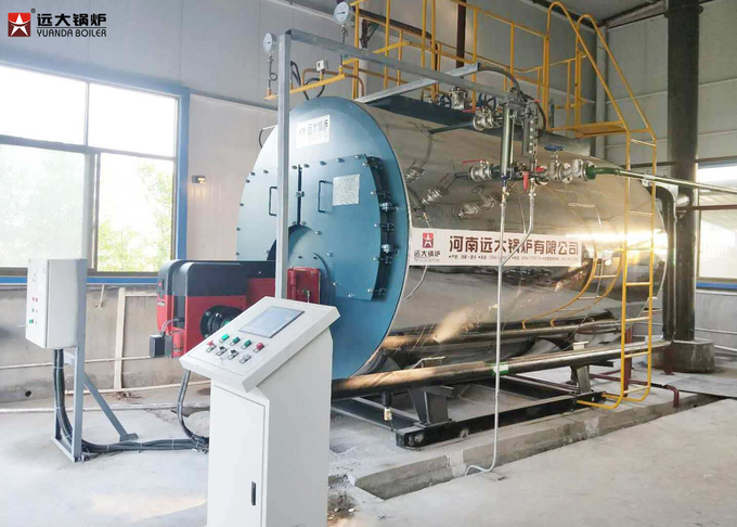 Full Auto Gas Oil Three Way Fire Tube Steam Boiler 0.5t - 20t Boiler Capacity